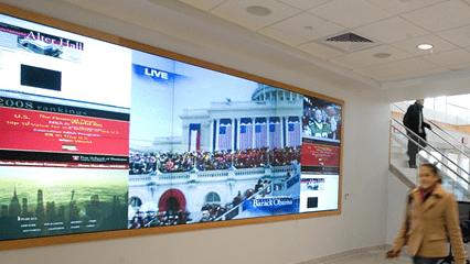 digital signage para centros comerciais hospitais  gares de transporte