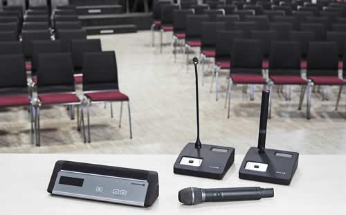 sistemas de conferencia para auditorios, centros de congressos e anfiteatros