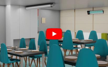desinfeção ultravioleta contra virus e bacterias para restaurantes cafés e esplanadas